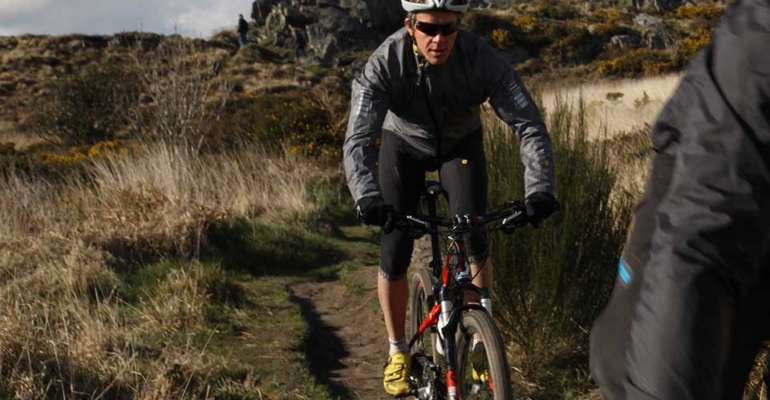 Cycliste à Trevezel