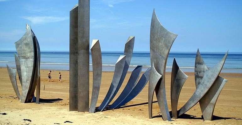 Monument mémorial Omaha Beach Normandie
