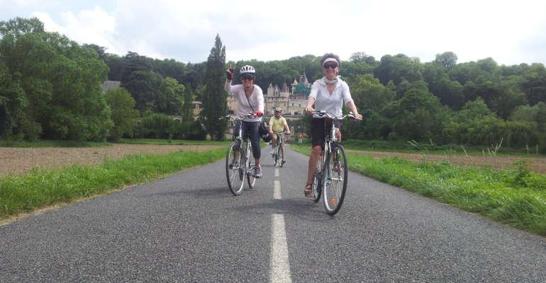 Le Château d'Usse à vélo