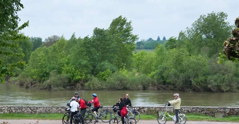 En vélo au bord de la Loire