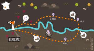 L'itinéraire Les couleurs du périgord - Carte