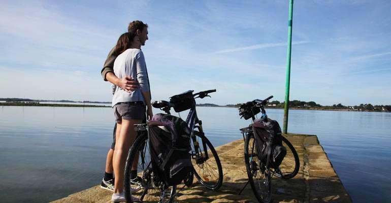 Arz island on bike