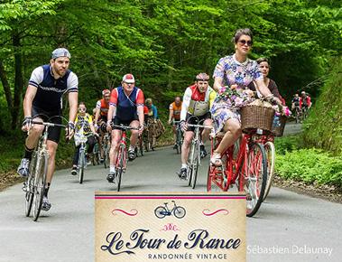 Tour de rance vintage à bicyclette
