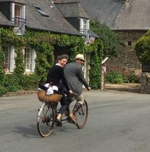 le Tour de Rance Vintage 2016, balade vélo rétro, sur les routes en tandem