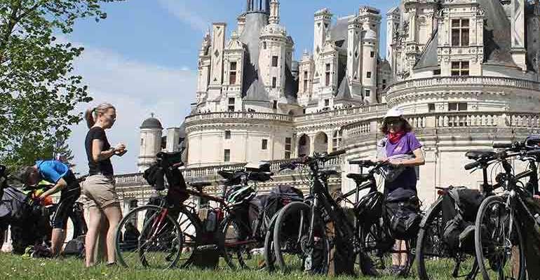 Le parc de vélo à Chambord