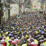Le départ de la course Pierre Le Bigaut Abicyclette Voyages