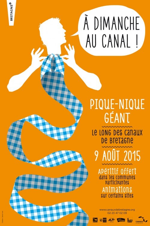 Affiche A dimanche au canal 2015 Abicyclette Voyages