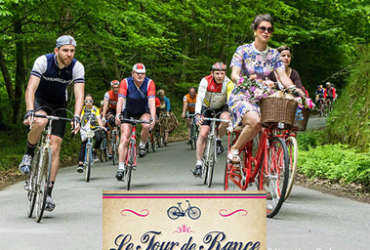 Photo affiche Tour de rance vintage à bicyclette