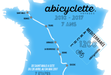 Carte itinéraire Manche Mediterranee 1200