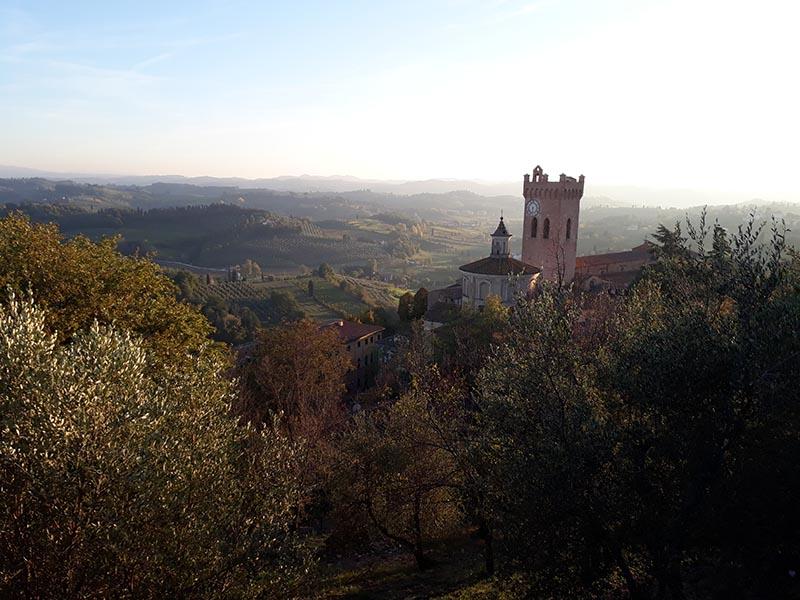 Vue sur la campagne toscane Abicyclette Voyages