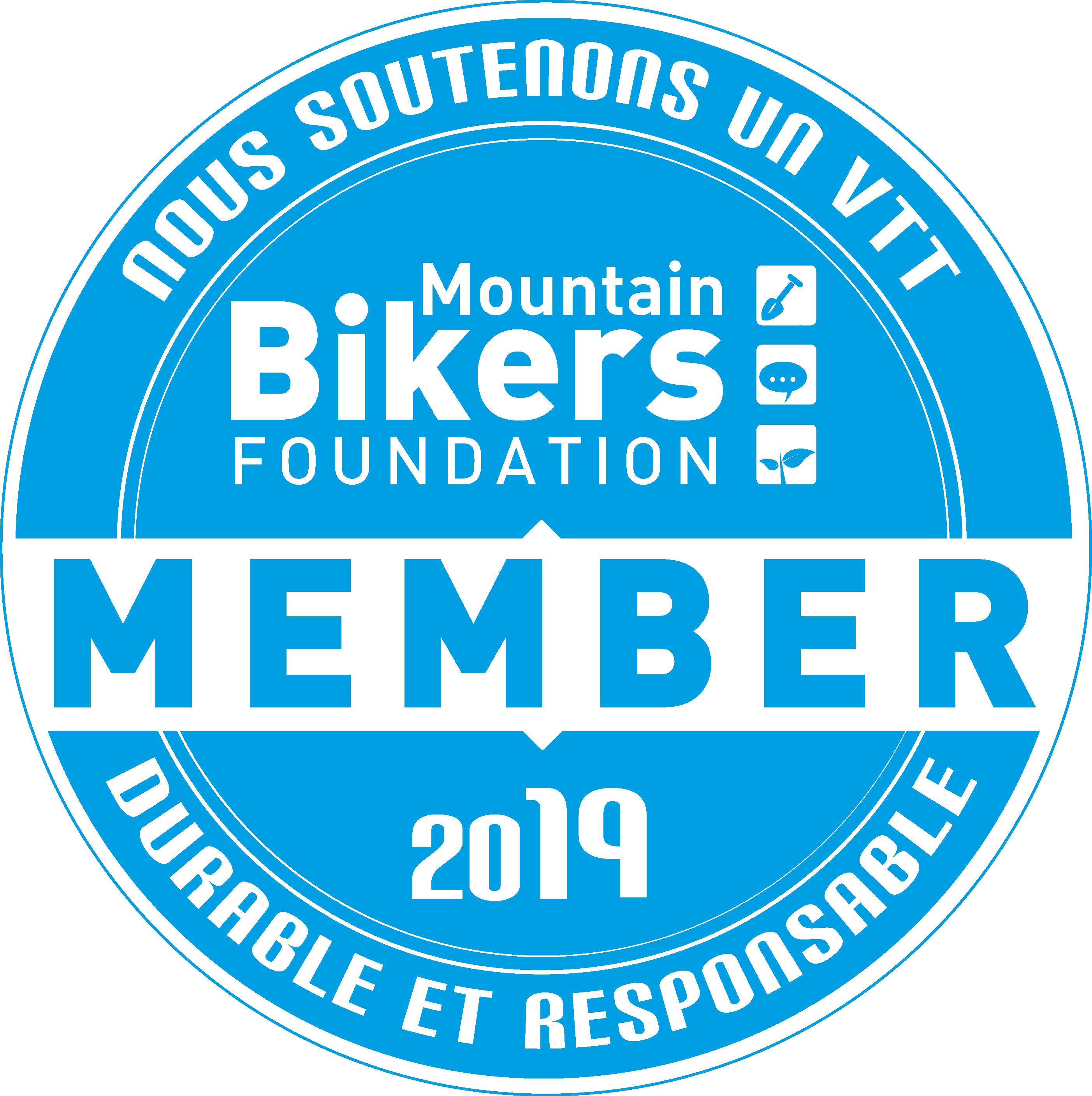 Logo de la Moutain bikers foundation partenaire Abicyclette Voyages