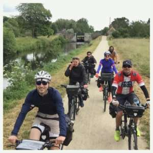 The Abicyclette team en route for the Canal d'Ille et Rance
