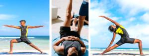 Hommes postures de yoga