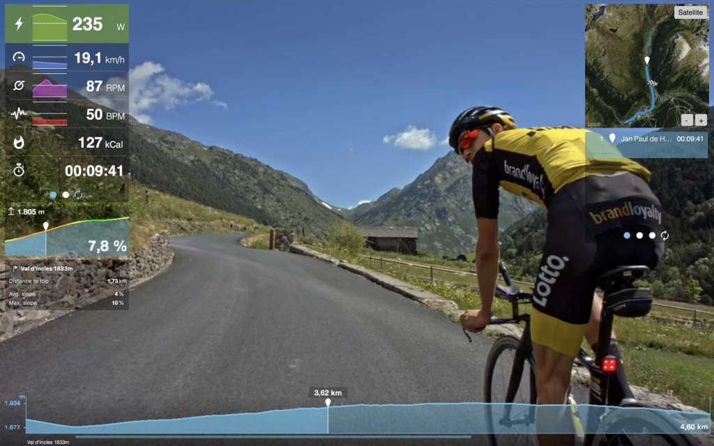 george bennett application tacx route montagne cycliste