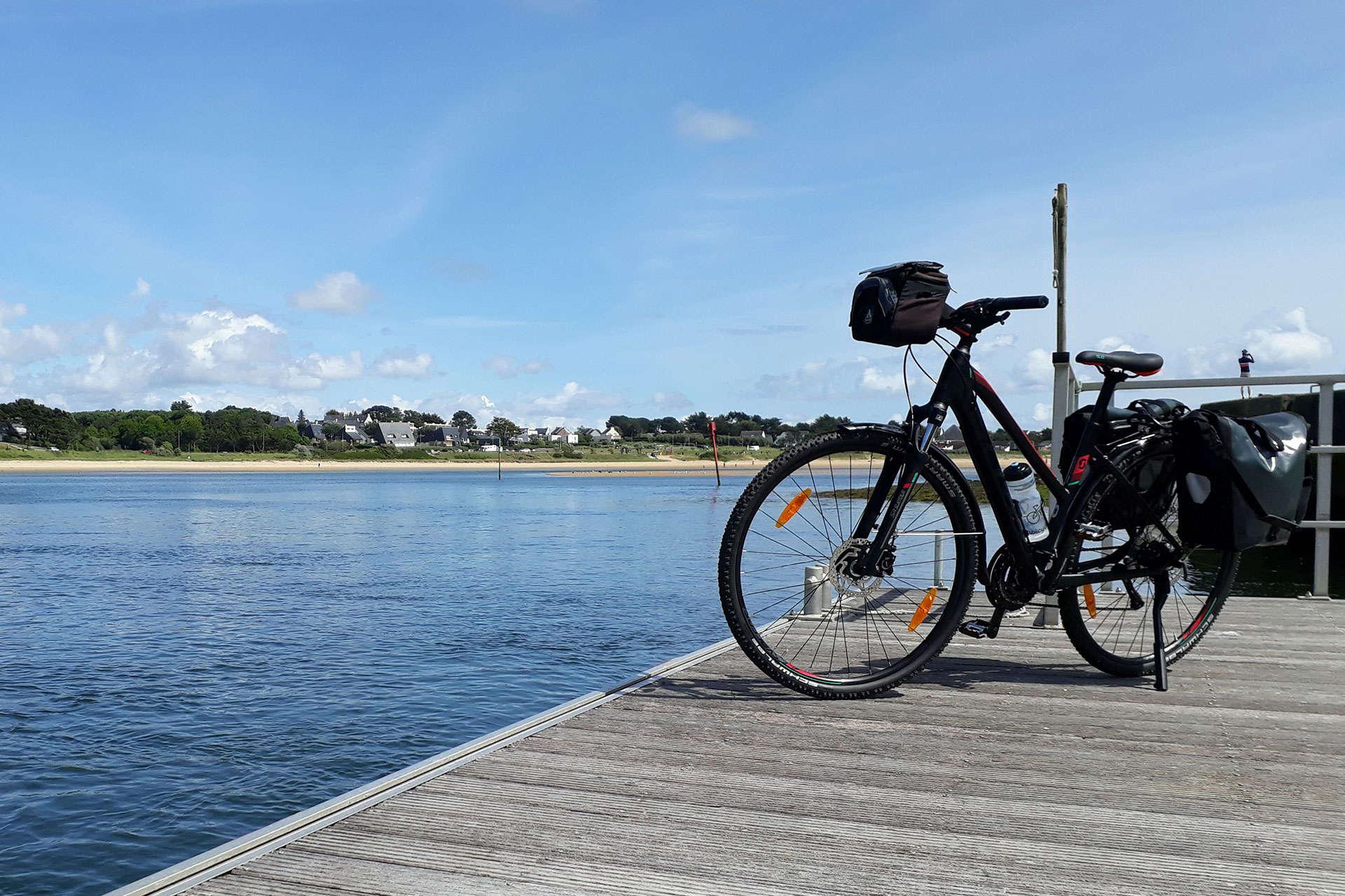 Bike on a pontoon Travel