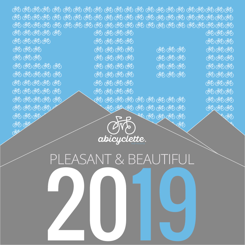 Pleasant & beautiful 2019 from Abicyclette Voyages
