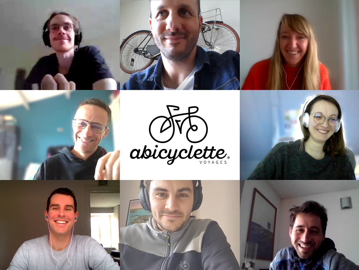 Online meeting with the Abicyclette Voyages team