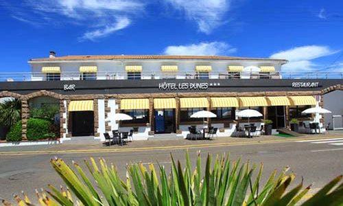 Façade côté rue Hotel des dunes à La Tranche Sur Mer