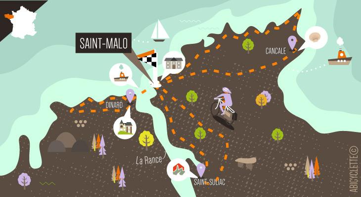 Carte séjour à vélo à Saint Malo