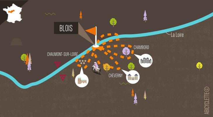 Carte itinéraire Le pays des châteaux à vélo