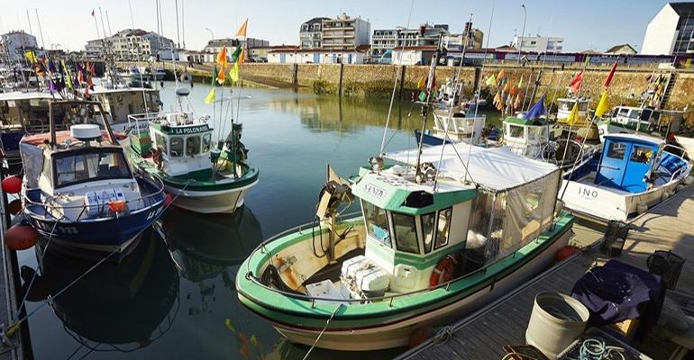 Bâteaux de pêcheurs au port Vélodyssee