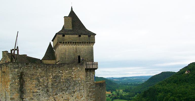 Chateau de Castelnaud Les couleurs du Périgord Abicyclette Voyages à vélo