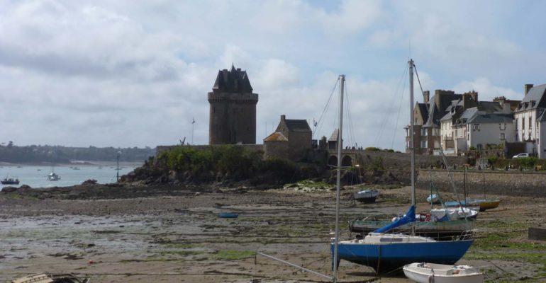 Bateaux à marée basse Séjour à Saint-Malo à vélo