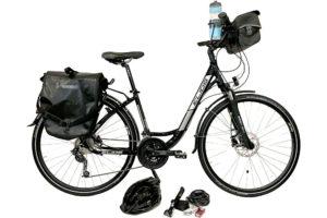 Vélo de voyage, position à l'hollandaise pour vacances à vélo