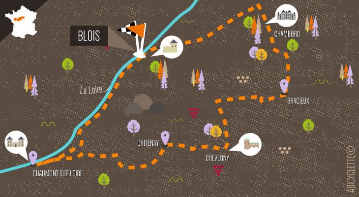 Carte Les Pays des Chateaux en Famille