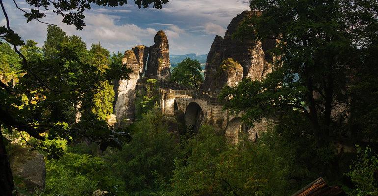Site de Bastei vallée de l'Elbe vacances à vélo