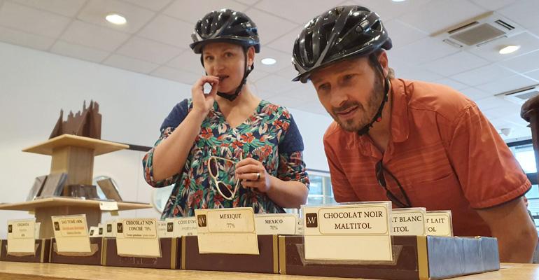 degustation de chocolat sur la loire à vélo