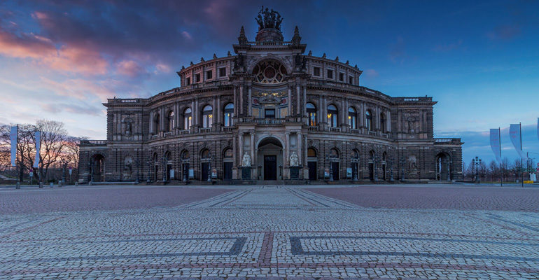 Palais de Dresden Vallée Elbe tourisme vacances à vélo