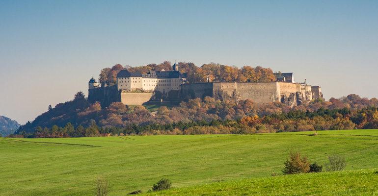 Château de Konigstein, Vallée de l'elbe, étape vacances à vélo