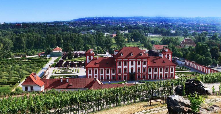 Chateau Troja, visite vacances à vélo