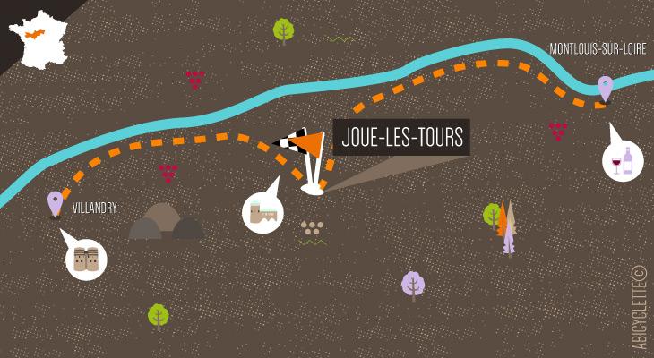 carte velo spa loire vélo autour de Joué-lès-Tours