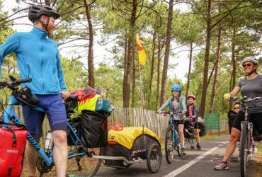 BOrdeaux Biarritz à vélo en famille