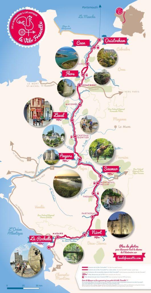Map Velo Francette
