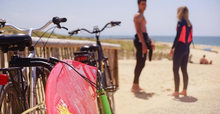 velo bord de plage biarritz