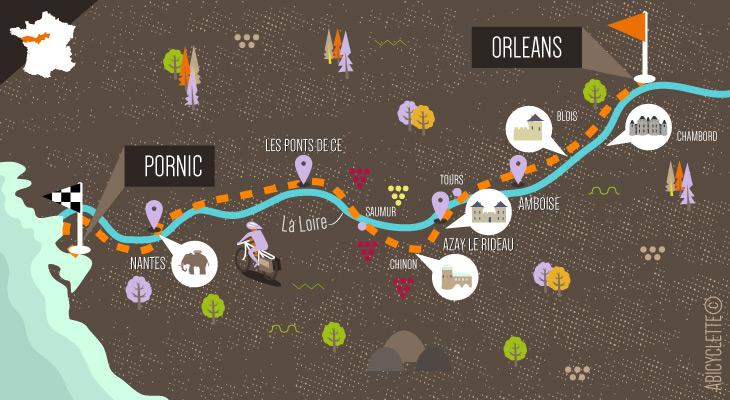 Carte séjour Val de Loire à vélo de route