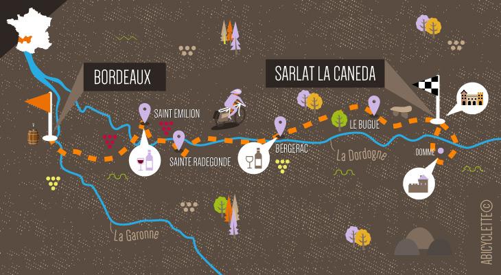 Séjour à velo Des vignobles de Bordeaux aux châteaux de Dordogne -