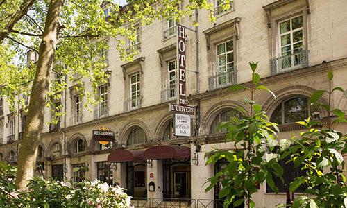 Vue de l'hôtel Océania univers à Tours depuis la rue