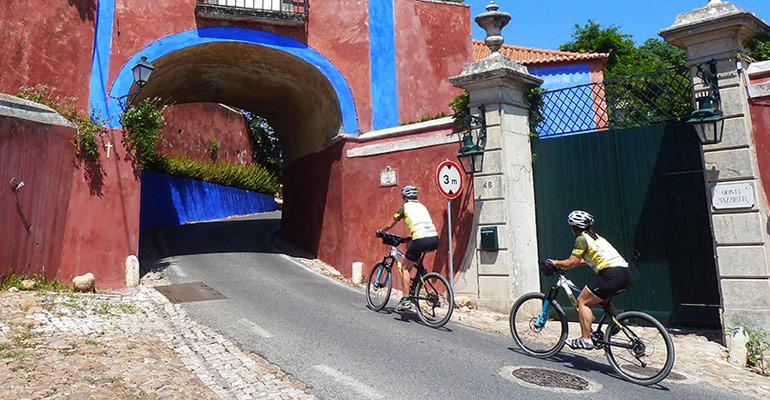 Cyclistes à Lisbon