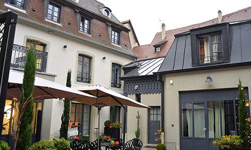 Cour de l'hôtel Le quatorze à Colmar