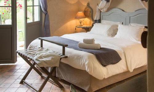 Chambre à l'Hôtel Spa le Saint Cirq
