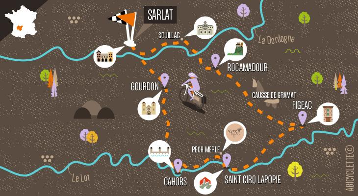 carte Dordogne à vélo