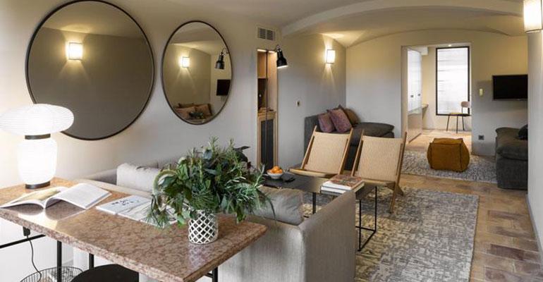Chambre à l'hotel Baumaniere
