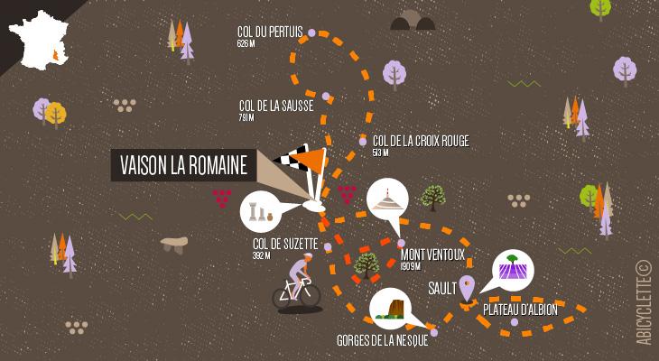 carte séjour Tour du Mont Ventoux