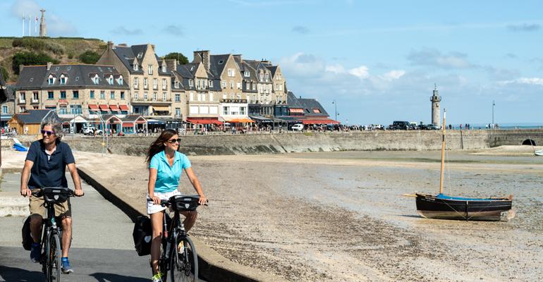 Cancale à vélo sur la vélomaritime