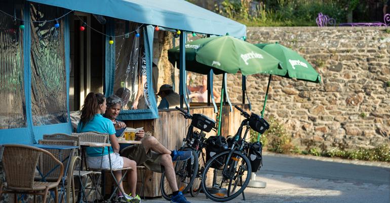 pause vélo à saint suliac