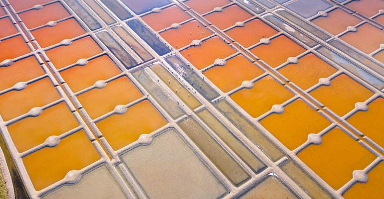 les marais salants, vue aérienne
